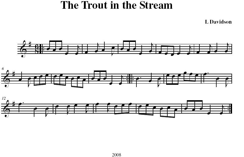 The Trout in the Stream